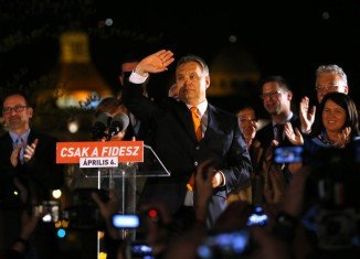 Hungary's PM Viktor Orban has declared victory in Sunday's parliamentary election, winning a second consecutive term