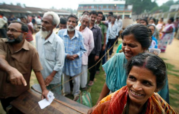 India has begun voting in the world's biggest election