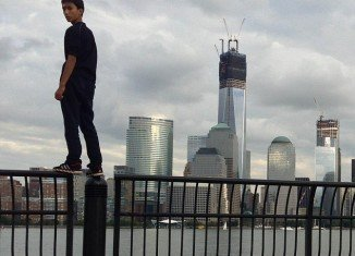 Justin Casquejo sneaked into the WTC site and spent almost two hours on the roof of the nearly completed Freedom Tower