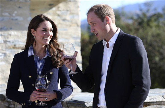 Kate Middleton enjoyed several glasses of local wine at an engagement at the Amisfield Vineyard in New Zealand