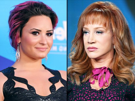 Kathy Griffin has received death threats from Demi Lovato's fans after she insulted the former Disney star on Twitter