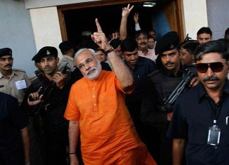 Narendra Modi has been accused by India's Election Commission of violating the election code