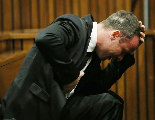 Oscar Pistorius has broken down on several occasions during the trial