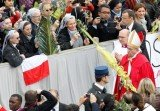 Pope Francis marked Palm Sunday in a packed St. Peter's Square ignoring his prepared homily