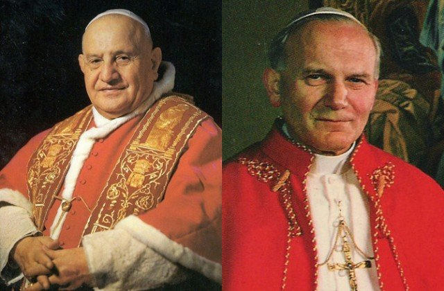 Pope John Paul II and Pope John XXIII are to be declared saints at an unprecedented open-air ceremony in Rome