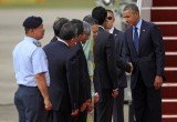 President Barack Obama is the first serving American leader to visit Malaysia since 1966