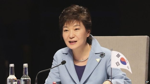 President Park Geun-hye has issued an apology to the nation after three officials of the country's intelligence agency were charged with fabricating evidence in a spying case