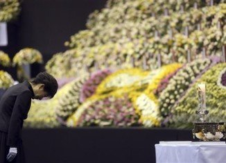 President Park Geun-hye visited the memorial of Sewol ferry disaster