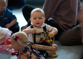 Prince George at the Plunket play group in Wellington