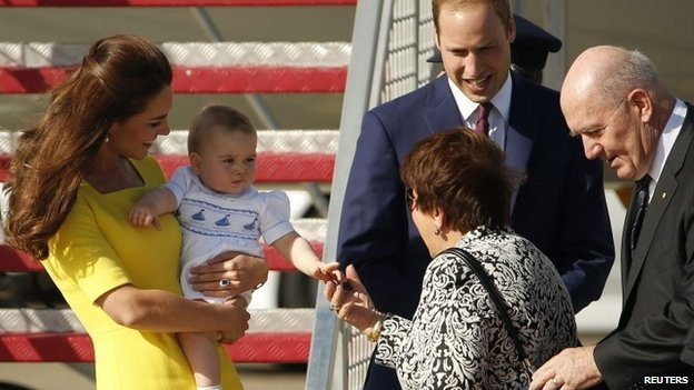 Prince William, Kate Middleton and their son Prince George have arrived in Sydney for the next leg of their tour of New Zealand and Australia