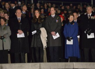 Prince William and Kate Middleton joined military personnel, veterans and the public in Canberra to mark Anzac Day