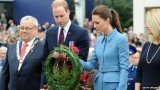 Prince William and Kate Middleton paid their respects to New Zealand's war dead at the Blenheim War Memorial