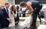 Prince William and Kate Middleton watched a shearing demonstration, and the Duchess of Cambridge seized the opportunity to poke fun at her husband's bald spot