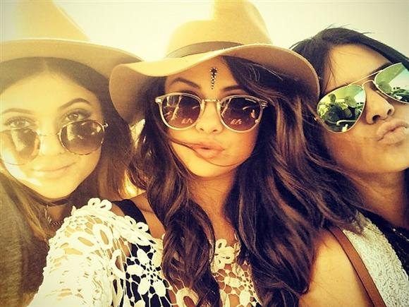 Selena Gomez and Jenner sisters hung out together at the Coachella Music Festival