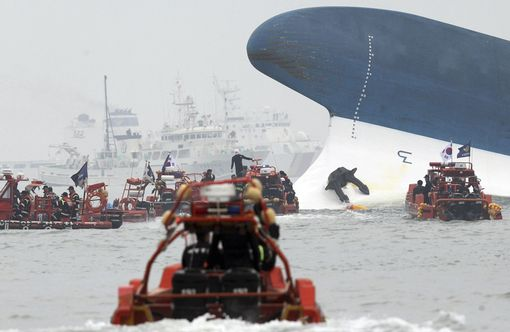 Sewol ferry with 476 people on board sank off South Korea on April 16.