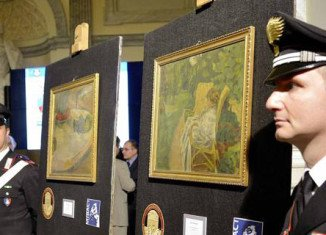 Stolen Gauguin and Bonnard paintings have been found hanging on an Italian factory worker's kitchen wall
