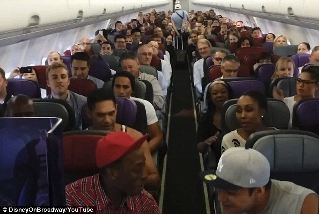 The cast of The Lion King treated passengers aboard of Virgin Australia flight 0970 with an impromptu performance of Circle of Life