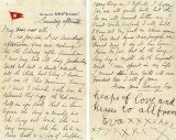The letter was written by Titanic survivors Esther Hart and her 7-year-old daughter Eva eight hours before the ship hit an iceberg and sank in 1912