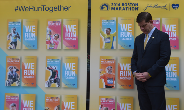 Thousands of participants are preparing to take part at this year's Boston Marathon amid tight security following last year's bombings