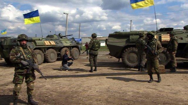 "Ukraine's acting President Oleksandr Turchynov has announced the start of an ""anti-terrorist operation"" against pro-Russian separatists"