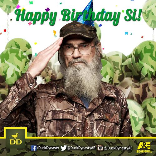 Uncle Si Robertson celebrates his 65th birthday on April 27