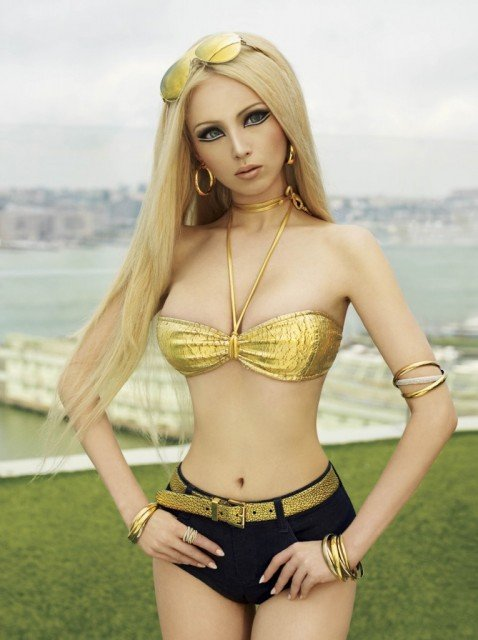 Valeria Lukyanova said she believes the world's looks are deteriorating because ethnicities are mixing