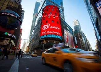 Weibo's flotation on the NASDAQ stock exchange had initially raised a less-than-expected $286 million