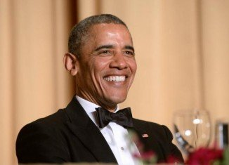 Barack Obama made fun of his healthcare policy, his political opponents and Vladimir Putin at this year's White House Correspondents' Association dinner