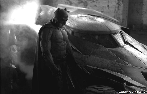 Ben Affleck's first photo as Batman has been revealed by director Zack Snyder