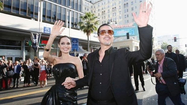 Brad Pitt has been punched in the face at the premiere of Maleficent in Los Angeles