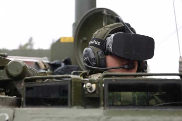 By mounting cameras on the outside of the tank, Norwegian soldiers were able to create a 360-degree feed to the Oculus headset, worn by the driver