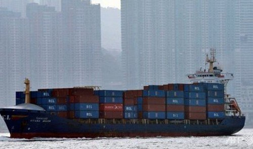Eleven crew members have been reported missing after two cargo ships collided off the coast of southern Hong Kong