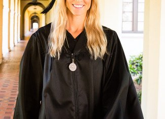 Elin Nordegren was named the most outstanding senior in her class at Rollins College
