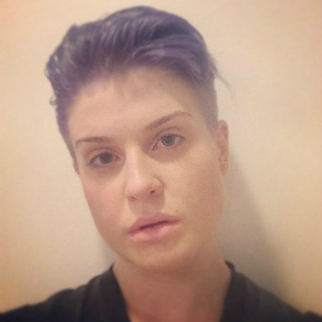 Kelly Osbourne shaved the majority of her head, leaving only a mini-mohawk behind