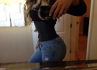 Khloe Kardashian took to Instagram to show off her hard work