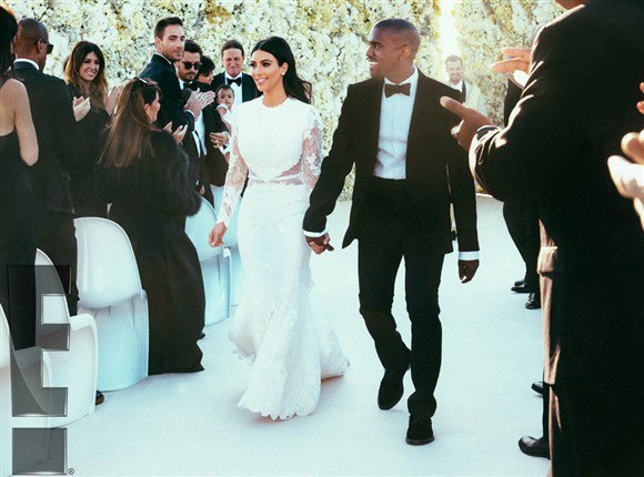 Kim Kardashian's wedding dress was a white Givenchy Haute Couture gown