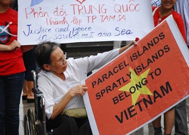 Nationalist sentiment in Vietnam is currently running very high over the South China Sea dispute