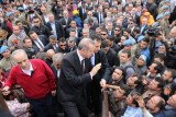 People in Soma hurled abuse as they surrounded PM Recep Tayyip Erdogan's car during his visit to the scene of the tragedy