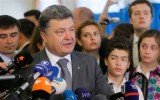 Petro Poroshenko has claimed outright victory in Ukraine's presidential election