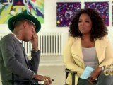 Pharrell Williams crying on Oprah Winfrey's show