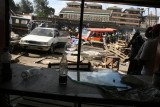 Police said two improvised explosive devices had been detonated in the sprawling Gikomba market
