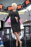 Pregnant Christina Aguilera showed off her baby bump while performing at the KIIS FM Wango Tango in Carson