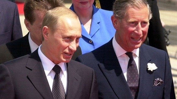 Prince Charles is said to have likened some Nazi actions in Europe to Vladimir Putin's policies