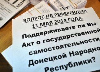 Pro-Russian separatists in Donetsk and Luhansk say 89 percent and 96 percent respectively voted in favor of self-rule
