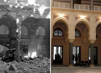 Sarajevo's iconic city hall has been re-opened 22 years after it was destroyed by shelling during the Bosnian War