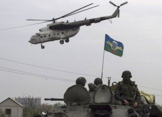 Sloviansk separatists have shot down two of Ukraine's army helicopters during an anti-terror operation