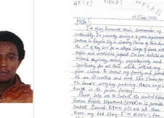 Stephanie Wilson found a plea for help from Tohnain Emmanuel Njong imprisoned in China in a Saks shopping bag