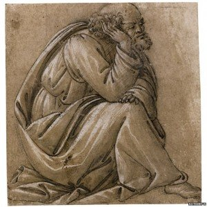 Study for a Seated St. Joseph is believed to be the only drawing which can be clearly linked with one of Sandro Botticelli's painted compositions