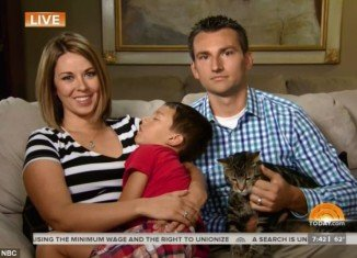 Tara the cat was caught on video saving 4-year-old Jeremy Triantafilo from a dog attack