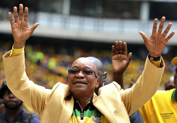 The ANC victory in South Africa's general elections would return President Jacob Zuma for a second five-year term